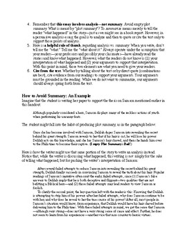 Bible as Literature: Old Testament Assignment