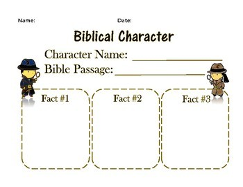 Bible character study FOR KIDS
