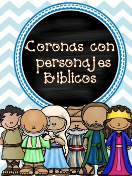 Bible characters headbands/ coronas con personajes Biblicos