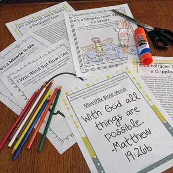 Bible Units for Every Month of the Year, NO PREP, Themed Lessons, PreK-1st