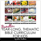 Bible Units, Year-Long Curriculum, BUNDLE of Holiday Lessons for Kids