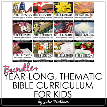 Bible Units for Every Month of the Year, NO PREP, Themed L