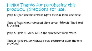Bible for Kids Children Sunday School Homeschool Watch! The Lord is Coming