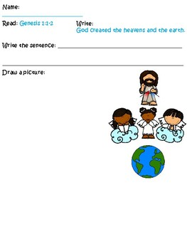 Bible for Kids Children Sunday School Homeschool God Created the Heavens & Earth