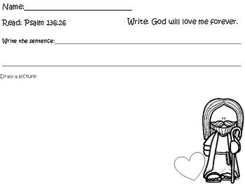 Bible for Kids Children Sunday School Homeschool God Will Love Me Forever