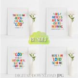 Bible quotes poster bundle Vol. 17 - Christian inspiration