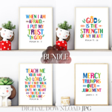 Bible quotes poster bundle Vol. 21 - Sunday school and kid