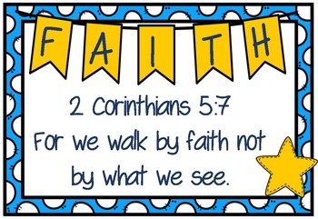 "Bible theme ""Faith"" (Memory Verses and posters for Faith Theme) Bulletin Display"