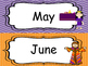 Bible themed Month Labels. Preschool-Kindergarten Bible bulletin board.