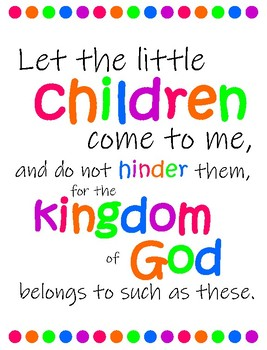 Bible verse posters about Children BRIGHTS