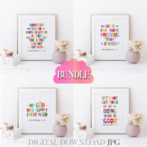 Bible verses posters bundle Vol. 16 - Christian quotes for