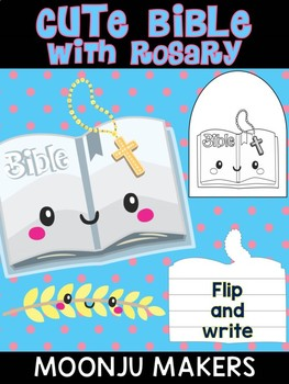 Bible with Rosary - Moonju Makers, Activity, Craft, Decor, Catholic, Christian