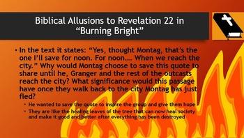 "Biblical Allusions in ""Burning Bright"" of Fahrenheit 451"