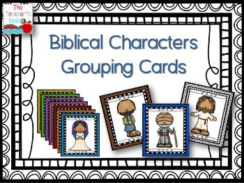 Biblical Characters Grouping Cards