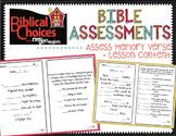 Biblical Choices Bible Tests {3rd Grade}