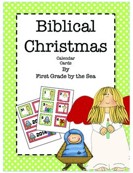 Biblical Christmas Calendar Cards FREEBIE
