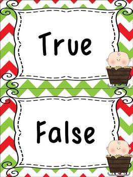 Bible Christmas True and False Packet