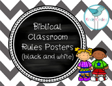 Biblical Classroom Rules Posters (Black and White) - TPT Kinderbirdies