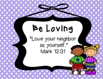 Biblical Classroom Rules Posters (Polka Dots Pastel) - TPT Kinderbirdies