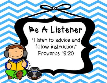 Biblical Classroom Rules Posters (Chevron Bright) - TPT Kinderbirdies