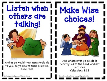 Biblical Classroom Rules Posters and Book - King James Version