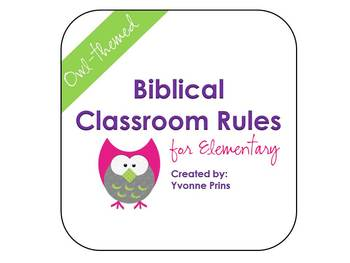 Biblical Classroom Rules for Elementary (Owl-themed)