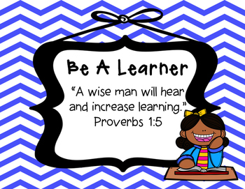 Biblical Classroom Rules Posters (Chevron Blues) - TPT Kinderbirdies