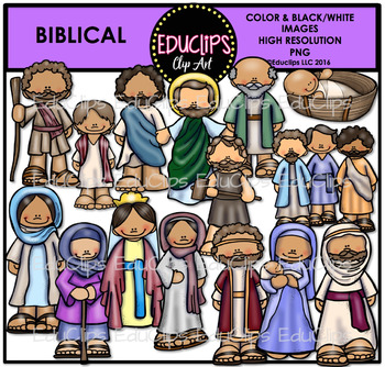 Biblical Clip Art Bundle {Educlips Clipart}