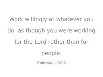 Biblical Encouragement in the Classroom