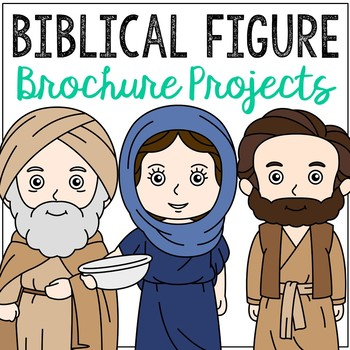 Biblical Figures Brochure Projects, Set of 20, Bible Lessons for Big Kids