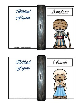 Biblical Figures Characters of the Bible Mini Fold-Ems