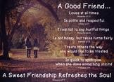 Biblical Friendship Poster - Girls