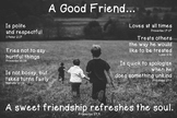 Biblical Friendship Poster - Boys
