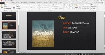 Biblical Major Prophets Powerpoint - Old Testament Survey