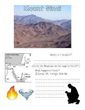 Biblical Places Interactive Worksheets