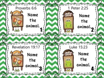 Bible Task Cards: Animals in the Bible