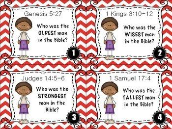 Bible Task Cards: Bible Superlatives