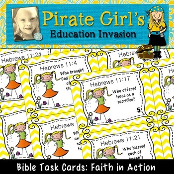 Bible Task Cards: Faith In Action (Hebrews 11)