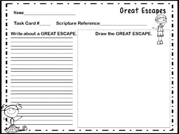 Bible Task Cards: GREAT ESCAPES