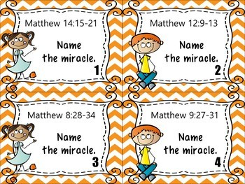 Bible Task Cards: It's a MIRACLE!