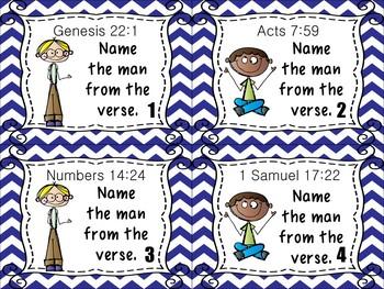 Bible Task Cards: Men of the Bible