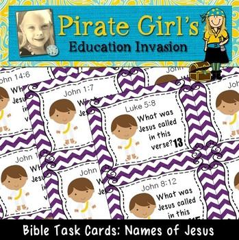 Bible Task Cards: Names of Jesus