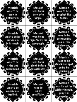 Bible Task Cards: Prophecy Fulfilled