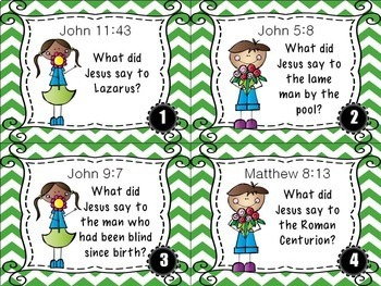 Bible Task Cards: Speak Life!