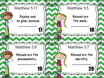 Bible Task Cards: The Beatitudes