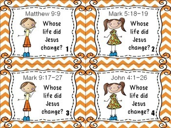 Bible Task Cards: The Touch of Jesus