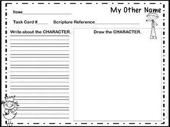 Bible Task Cards: What's My Other Name?
