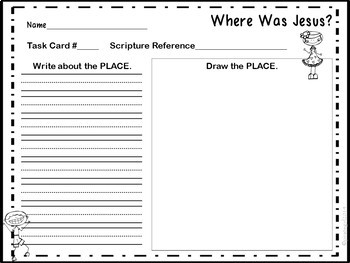 Bible Task Cards: Where Was Jesus?