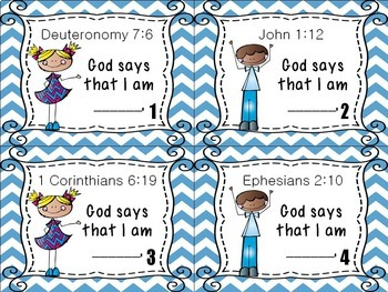 Bible Task Cards: Who Am I?