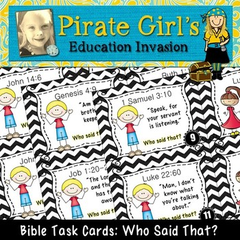 Bible Task Cards: Who Said That? (Bible quotes)